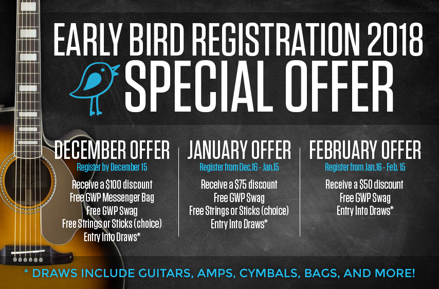 2018 Early Bird Registration