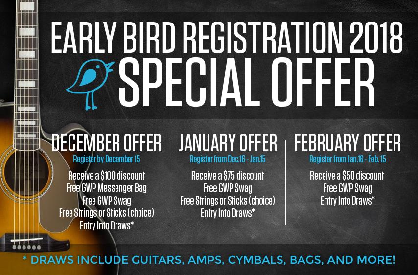 2018 Early Bird Registration