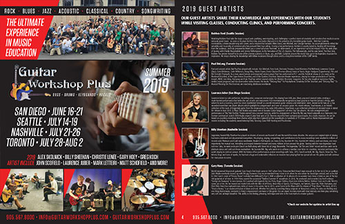 2019 Guitar Workshop Plus Brochure
