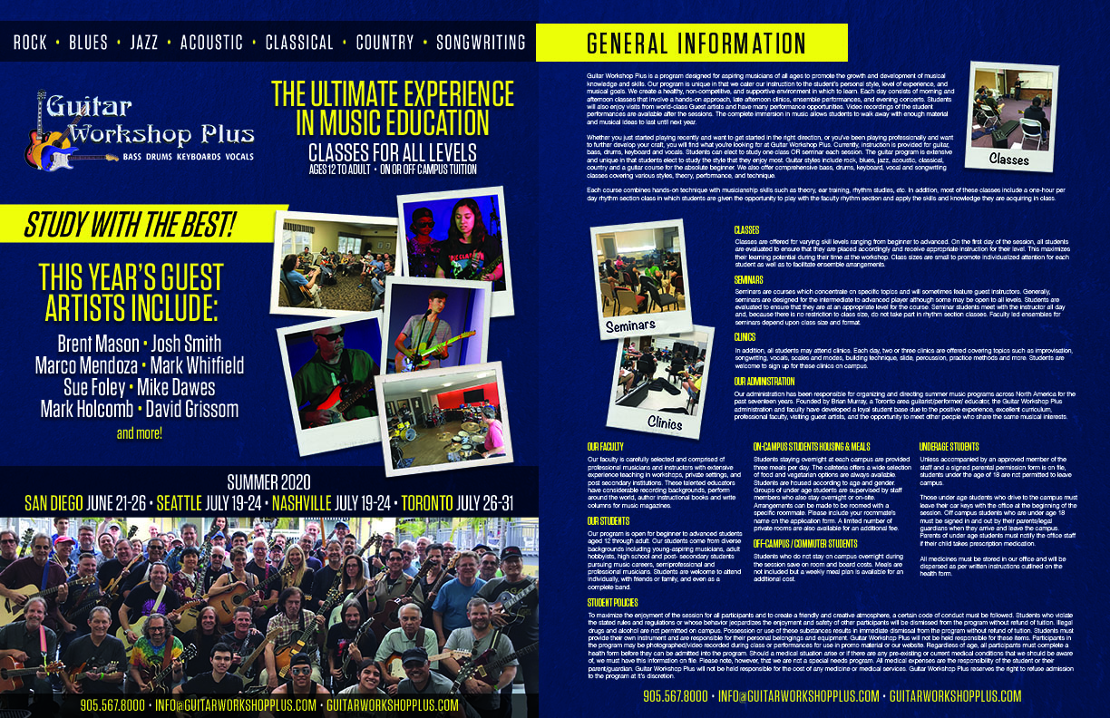 2020 Guitar Workshop Plus Brochure