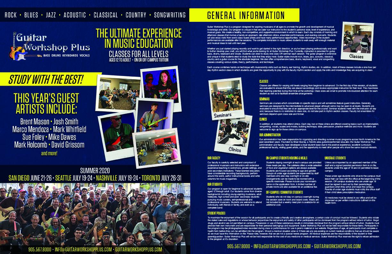 2020 Guitar Workshop Plus Brochure